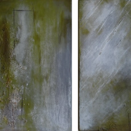 Commencement (2010) Acryl auf Leinwand 40x60, 30x60