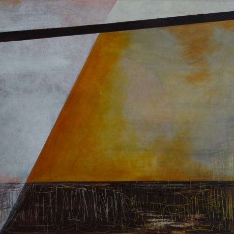 Jahreszeitenwechsel (2008) Acryl auf Leinwand + Basepulver 70x50