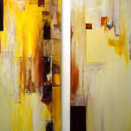 Licht in mir (2008), Mischtechnik, Diptychon je 50x150