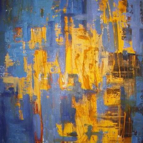 Lichtlöcher (2006), Acryl auf Leinwand, 100x140