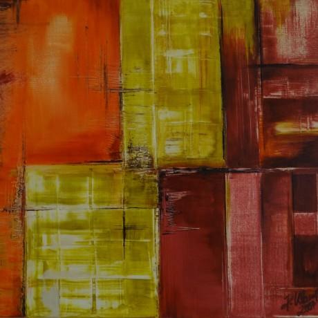 Zeitfelder (2007), Mischtechnik, Acryl auf Leinwand, 70x50