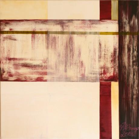 Durch und Sichtig  (2008), Mischtechnik, Acryl auf Leinwand, 100 x 100