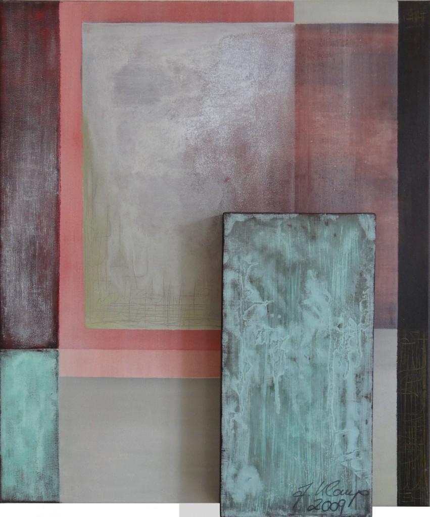 Kupfer Grüne Patina malerei kl
