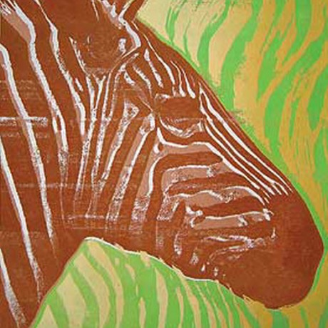 Bunt gestreift (2001), Gouache auf Karton, 20x26