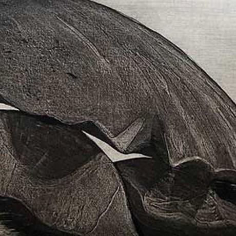 Les rochers bizarres I (2001), Aquatinta + Lithokreide + Strichätzung + Kaltnadel, 20x30