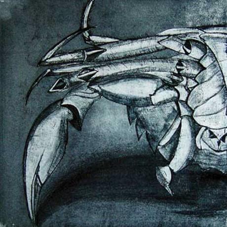 Ein Teil vom Ganzen? (2001), Aquatinta + Lithokreide + Strichätzung + Kaltnadel, 15x15